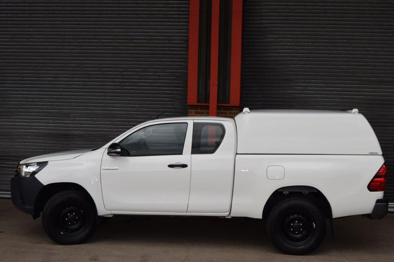 Toyota Hilux Canopy for Mid Roof Tradesman